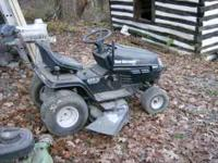 20 hp mtd mower w/ bent mower shaft. engine runs sound,