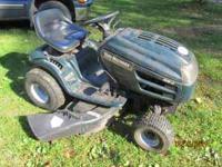 for sale is an MTD riding mower 20hp engine runs good,