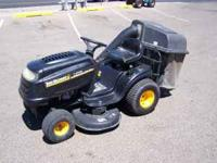 Yard machines by MTD riding mower. This unit is powered