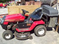 WE ARE SELLING A MTD YARD MACHINE RIDE ON MOWER. THE