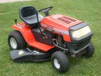 tractor has a 14.5 HP briggs & stratton i/c with cast