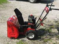 I AM LOOKING TO SELL MY MTD SNOWBLOWER, ITS IN VERY