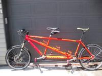 This is a Cannondale MT3000. It is a hardtail tandem,