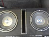 NEW !!!!!!!!!!!! 2 10 inch mtx magnum subs in box with