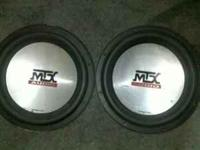 i have 2 mtx thunder 7500 subs for sale.they sell for