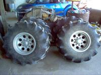 Mini tractor tires monted on 99 F250 rims. Tires are