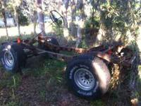 Toyota mud buggy frame and axles complete with tires