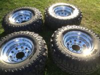 Interco truxus mud terrain tires with wheels