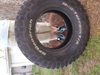 Selling my mud tires. Tires are in good shape with good