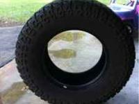 4- Dick Cepek Mud Tires 325/65 18 25% tread left