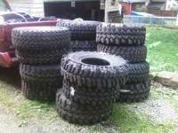I have a pile of mud tires of different sizes. Ill list