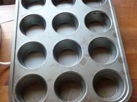 2 one dozen muffin pans, Nonstick good cook brand,