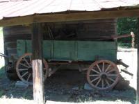 Antique mule wagon, kept under shed