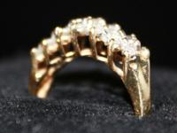 Multi-Diamond Yellow Gold Ladies Ring Pre-Loved