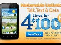 4 lines for $100. Nationwide unrestricted talk, text, &