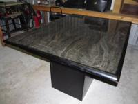 I have for sale a nice small square base table with a