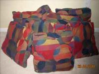(8) Multicolored Throw Pillows: GREAT Condition/No