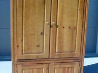 Multifunctional 4 Door Armoire Solid Wood Chest Clothes