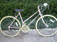 older style Murray ladies road bike. steel frame, paint