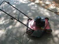 "lawnmower 20"" deck,3.5hp Briggs & Stratton engine,oil"
