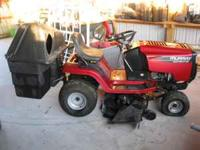 "MURRAY 15.5 HP OHV 42"" DECK WITH BIN BAGGER IN"