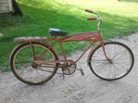 For sale is a late 50's Murray middleweight tank bike.