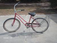 "26"", 1spd., with double basket on back, nice bike. call"