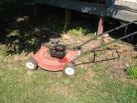 "We have a murray 22"" cut push mower for sale , it is"
