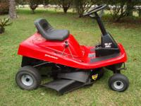 THIS MURRAY RIDING MOWER HAS A 10.5 HP ENGINE AND A 30""