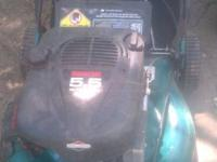 This mower runs good has 5.5 horse power motor and it