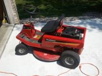 "Up for sale we have a used Murry 30"" deck, 8 HP riding"