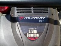 Virtually brand brand-new, Murray 20 inch, 5,5 HP