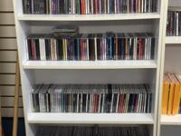 We have over 700 CDs for sale knew and slightly