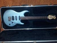 Musicman Luke guitar in luke blue with original