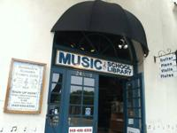 Complete service music store found on the corner of Del