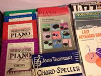 I am offering 19 music books that belonged to my late