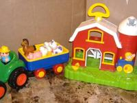 This Fun Farm Tractor with Wagon will help your little