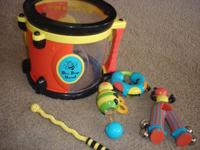 Drum set with lots of instruments and extras   Please