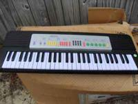 Battery operated musical keyboard. Works great,  . I
