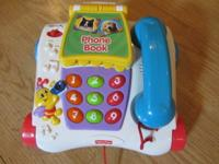 Fisher Price Phone and Phonebook Educational Pull Toy.