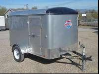 Come Check Out This 5x8 Enclosed Trailer With Side Door