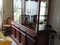 China cabinet with lighted hutch. Hutch lifts off from