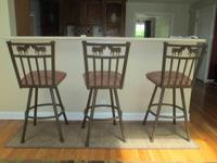 I have 3custom metal bar stools available for immediate