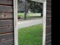 "Antiqued Mirror for sale! 29.5"" wide x 51"" tall Call or"