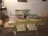 This dining set is in outstanding condition. Has a