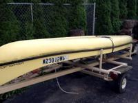 18ft Fiberglass Canoe PLUS Trailer! $795 or Best Offer