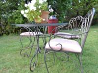 Moving and MUST SELL: 3 piece wrought iron outdoor
