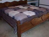 "SOLID WALNUT KING-SIZE BED AND ""LUXURY'(ORIGINAL"