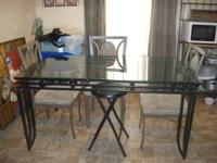 huge rectangular glass dinning table for sale. the base