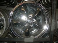 17 x 9 Chrome- used for 6 months- traded car off 5 on